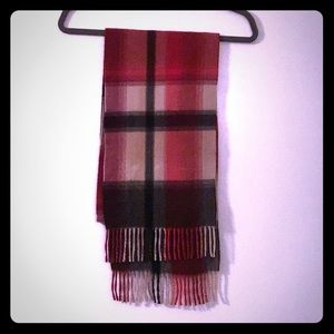 Red And Black Plaid Cashmere Scarf